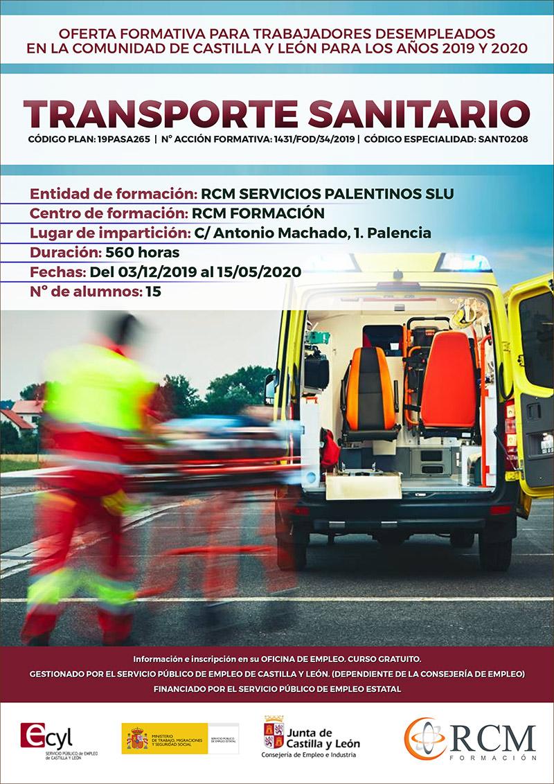 Curso de Transporte sanitario en Palencia