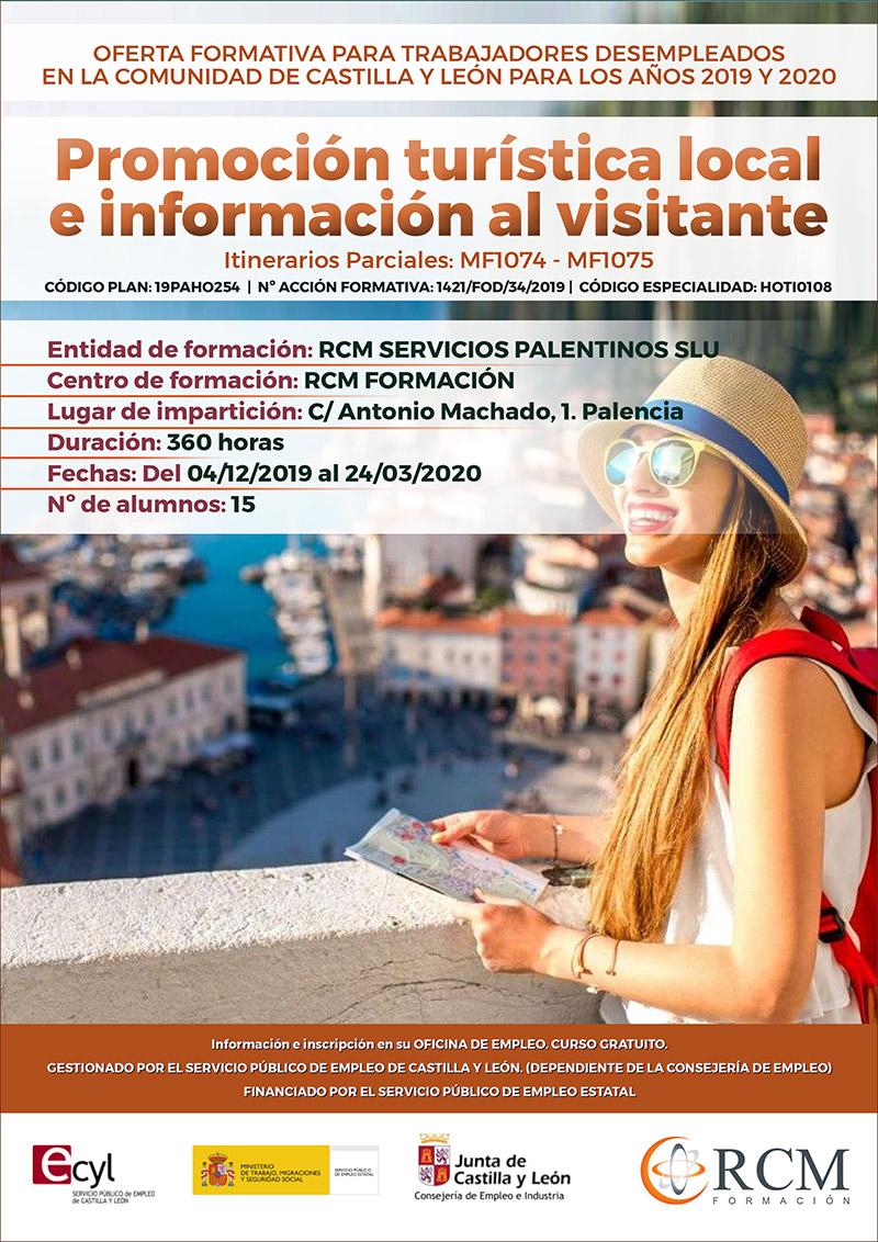 PROMOCIÓN TURÍSTICA LOCAL E INFORMACIÓN AL VISITANTE (HOTI0108)