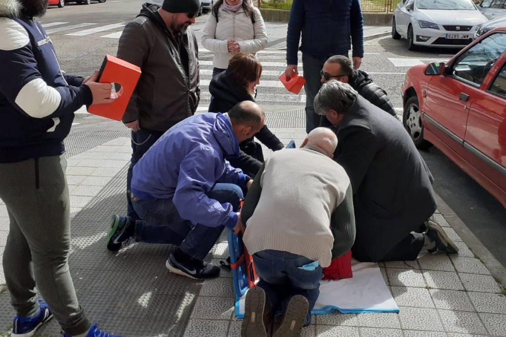 práctica de inmovilización, movilización y traslado de pacientes