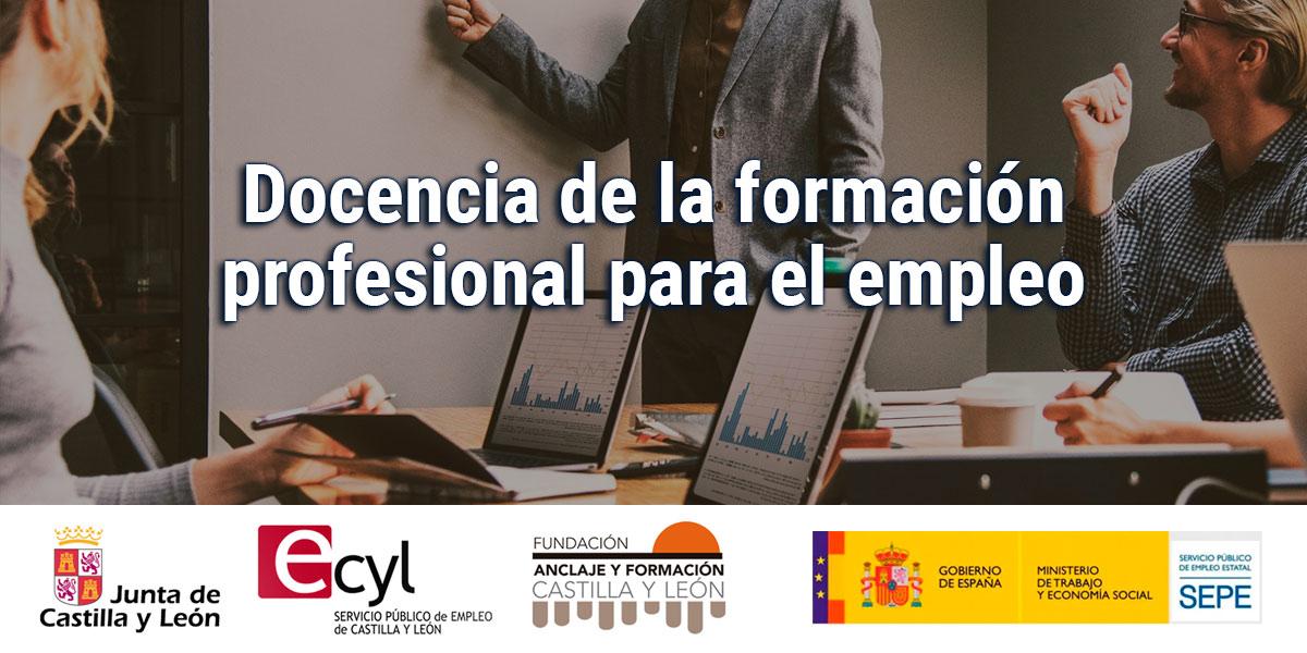 Docencia de la formación profesional para el empleo - Curso gratis en Palencia
